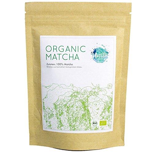 Nerrbo Organic Matcha - Bio Matcha-Tee In Premium Qualität, 50g, Konzentration & Diät-Unterstützung, Vegan