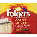 Folgers Classic Medium Roast Coffee Singles Serve Bags, 114 Count, 6 pack