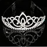 BingQing brand Bridal Crown Tiara. Fashion Stylish Rhinestones Princess Crown Headband diamond Hair Wedding Tiara Bride Prom-Wg03