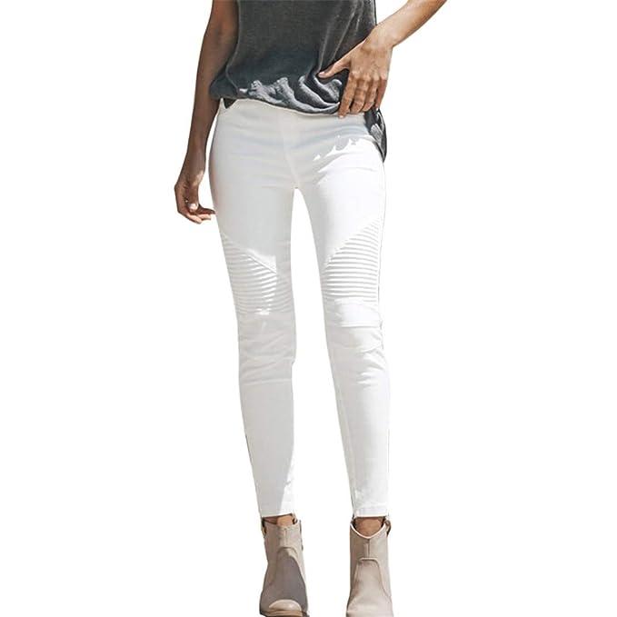 miglior servizio be7b4 408f3 Bluestermall Jeans Bianchi da Donna Slim Fit: Amazon.it ...