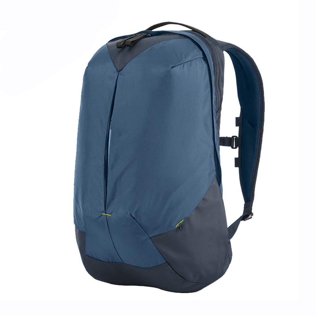 アウトドアハイキングバックパック通勤バッグスポーツショルダーショルダーストラップライディングリュックサック男性と女性の3色オプション22L  blue B07MVTCPWK