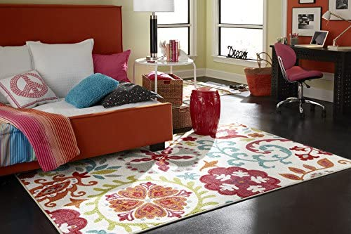 Mohawk Home Strata Idas Garden Floral Printed Area Rug