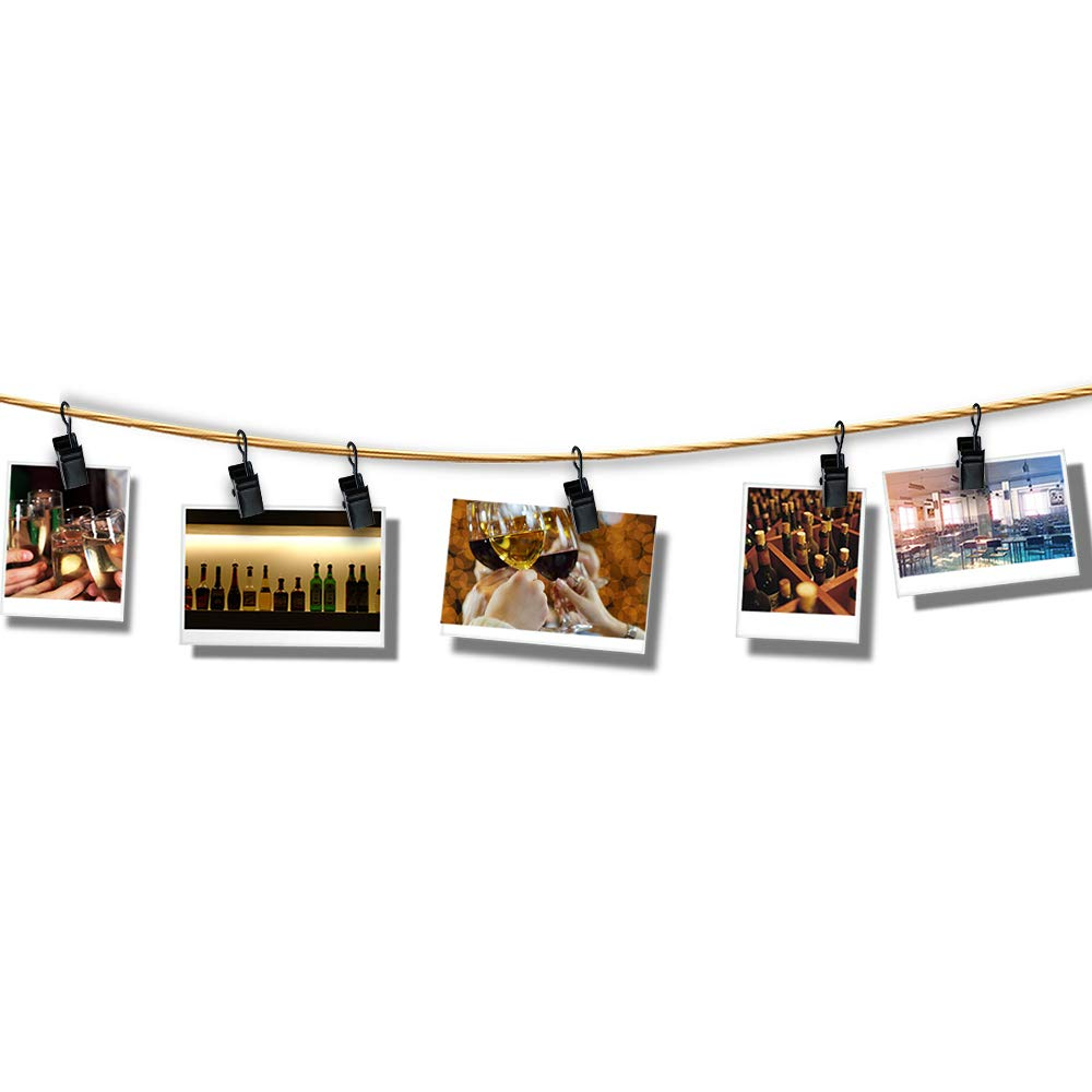 btcus4 Stainless Steel Curtain Clips with Hook for Curtain Photos Home Decoration and Outdoor Party -80 Pack(Silver)