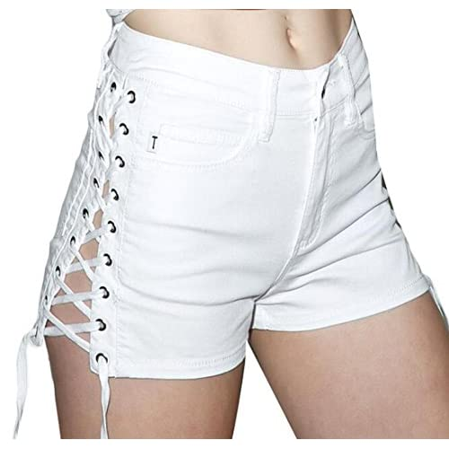 Alion Women s Fashion High Waist Shorts Lace Up Bandage 30%OFF ... e87f8b3d550ee