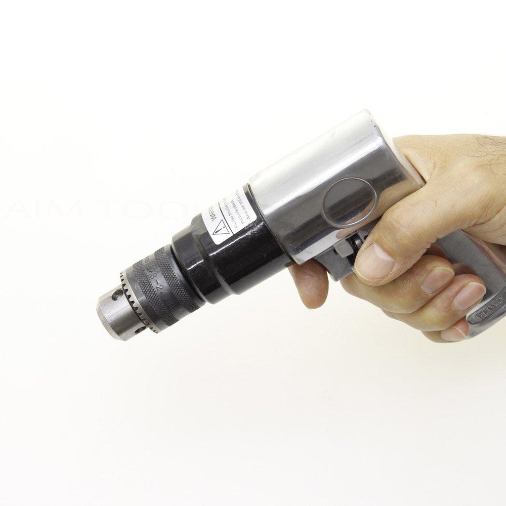 Merry Tools HK Taladro de aire comprimido reversible 10 mm con portabrocas con llave 212512