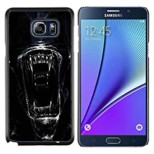 Smartphone duro PC Carcasa protectora Funda para Samsung Galaxy Nota 5 5th N9200/Phone Case TECELL Store/Alien Face Close Up
