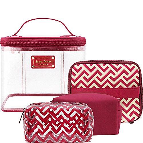 jacki-design-contour-4-piece-cosmetic-bag-set-red