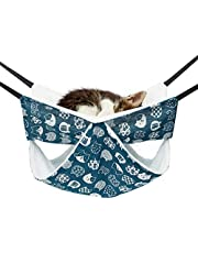 Cat Hanging Hammock, Cat Cage Hammock Adjustable Pet Bed Winter Warm Cat Hammocks for Indoor Cats Double Layer Hanging Bed for Kitten Puppy Cats Dogs Rabbit or Small Pet (A-Double Deck)