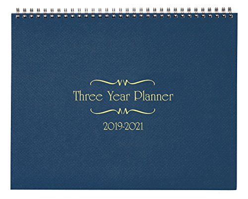 3 Year Calendar Diary 2019-2021 Blue by Miles Kimball