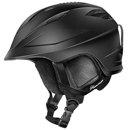 OutdoorMaster Ski Helmet PRO - with Airflow Climate Control & Adjustable Fit - for Men & Women (Black,L)