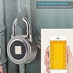 Rosvola-Lucchetto-Intelligente-per-Impronte-digitali-Blocco-Anti-furto-Senza-Chiave-Impermeabile-Bluetooth-App-Control-Lock