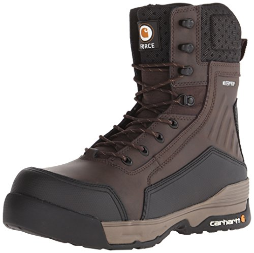 Carhartt Men's 8' Force BRN CMP Toe-M, Brown Coated Leather, 9 M US