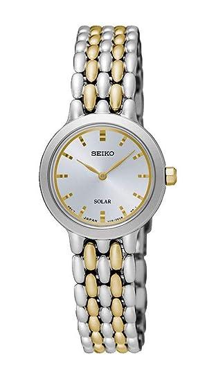 Seiko Reloj Analógico para Mujer de Energía Solar con Correa en Acero Inoxidable SUP349P1: Amazon.es: Relojes