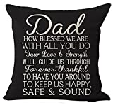 Andreannie Best Gifts For Father Dad How Blessed We Are With All You Do Forever Thankful To Have You Around Cotton Linen Throw Pillow Case Cushion Cover Home Office Decorative Square 18 X 18 Inches