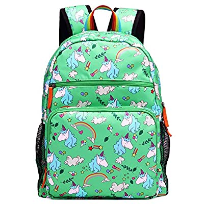 Kemy's Unicorn Backpack for Girls Rainbow Inicorn Schoolbag Primary Junior Elementary High School for Kids Packie Water Resistant Large Birthday Gift Teal Green | Kids' Backpacks