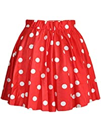Women's High Waisted Candy Colors Polka Dot Skirt