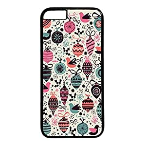 iCustomonline Strawberry Patterns Designs Black PC Case Back Cover for iPhone 6 Plus (5.5 inch)