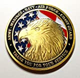 Grateful Appreciation Thank You For Your Service Military Family Large Colorized Challenge Art Coin