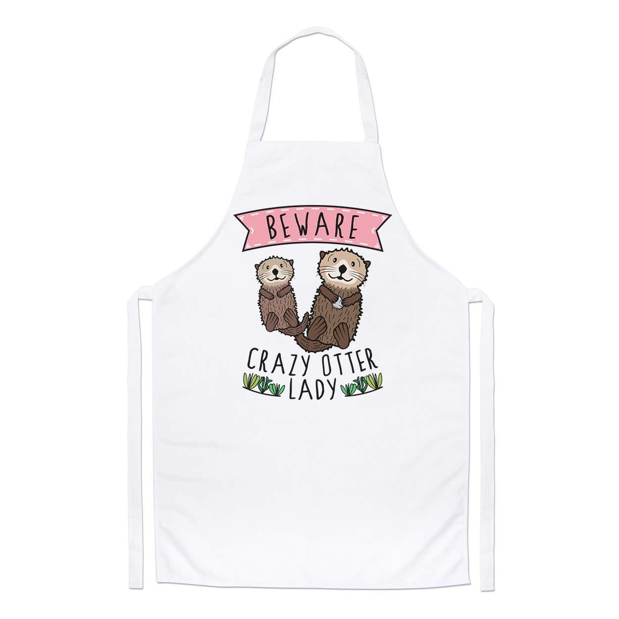 Beware Crazy Sloth Girl Chefs Apron