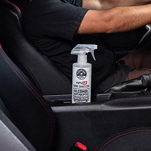 Chemical Guys HYG10016 Alcohol Antiseptic 80% Topical Solution Hand Sanitizer (16 oz), 16. Fluid Ounces