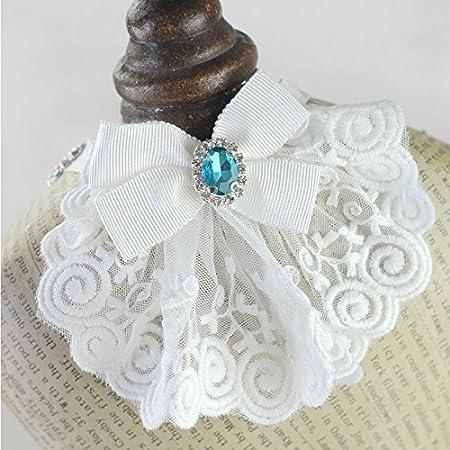 Pinkdose® Blue, S: Cute Lace Rhinestone Dog Luxury Wedding Collar Dog Cat  Pet Bow Tie Collar Necklace Jewelry Accessory Dog Bib Bandana Neckerchief:  Amazon.in: Home & Kitchen