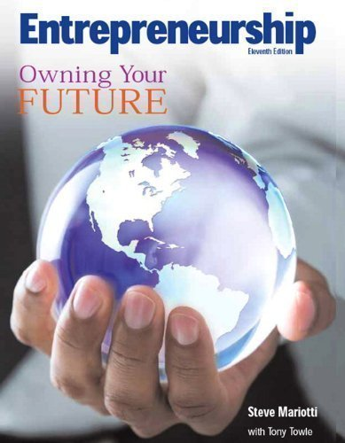 By Steve Mariotti: Entrepreneurship: Owning Your Future (High School Textbook) (11th Edition) Eleventh (11th) Edition