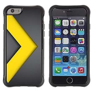 "Pulsar iFace Series Tpu silicona Carcasa Funda Case para Apple (4.7 inches!!!) iPhone 6 , Chevron Go Yellow Gold Line metal"""
