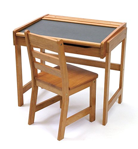 Lipper International 554P Child's Chalkboard Desk and Chair, 2-Piece Set, Pecan -
