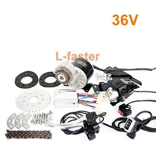 L-高速350ワットモータキット用バイクホイールスポーク最新変換キット用速ギアバイク経済的な変換電気都市バイク [並行輸入品] B076D722VL36V Thumb Kit