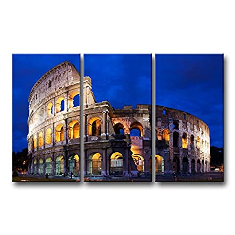 3 piece Wall Art Painting Colosseum In Rome Prints On Canvas The Picture City Pictures Oil For Home Modern Decoration Print (Marilyn Monroe Bedroom Theme)