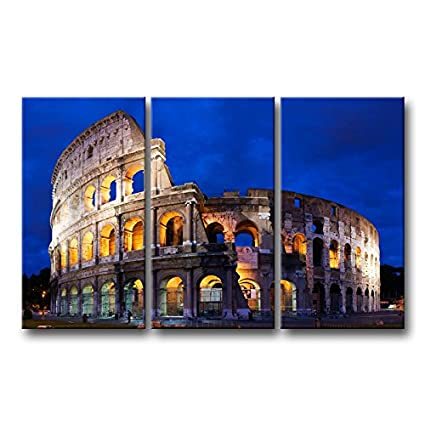 Amazon.com: 3 piece Wall Art Painting Colosseum In Rome Prints On ...