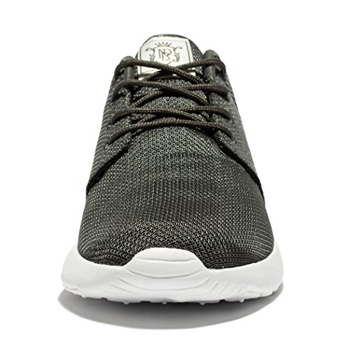 Fengda Mens Running Shoes Outdoor Athletic Leisure Walking Sneakers Grigio