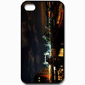 Protective Case Back Cover For iPhone 4 4S Case England London Night Black