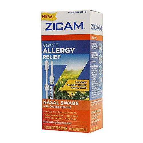 - ZICAM Allergy Relief Nasal Swabs 15 Count (2 Pack)