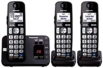 Panasonic Kx-tge233b Expandable Cordless Digital Phone With Large Keypad - 3 Handsets 0