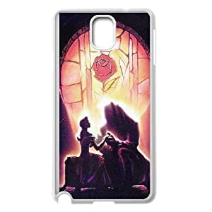 Samsung Galaxy Note 3 Cell Phone Case White_Beauty And The Beast Disney Art Illust Rcqvj