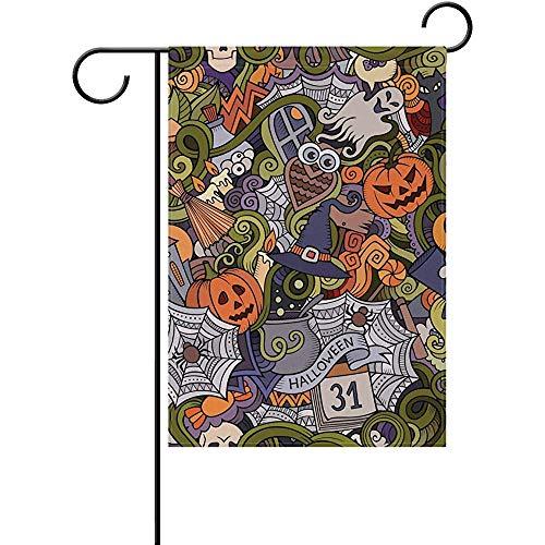 Starojun Cartoon Hand-Drawn Doodles Halloween Spooky Jack O