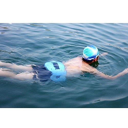 bcletty EVA flotadores de natación cintura brazalete ligero formación nadar cinturón para los niños y adultos Piscina lecciones más baja resistencia ...