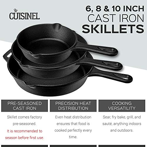 Pre-Seasoned-Cast-Iron-Skillet-3-Piece-Chef-Set-6-Inch-8-Inch-and-10-Inch-Oven-Safe-Cookware-3-Heat-Resistant-Holders-Indoor-and-Outdoor-Use-Grill-Stovetop-Induction-Safe