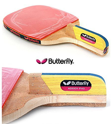 Butterfly New Addoy P40 Table Tennis Racket Penholder Paddle Ping Pong Racket /& Ball