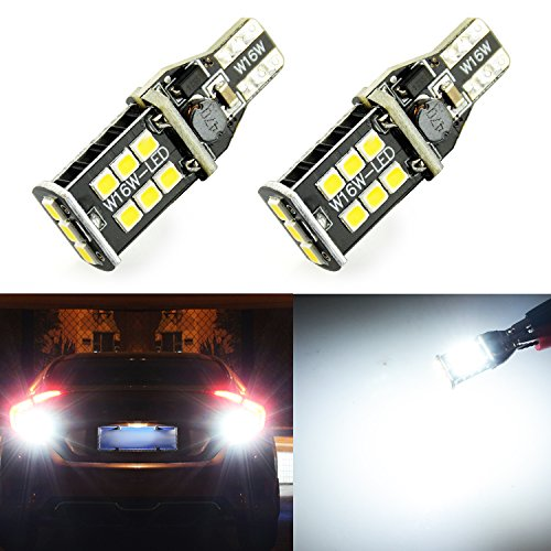 JDM ASTAR Extremely Bright 1000 lumens Error Free 360-Degree Shine 921 912 906 904 902 3035 Chips LED Bulbs For Backup Reverse Lights, Xenon White (Only used for backup reverse lights)
