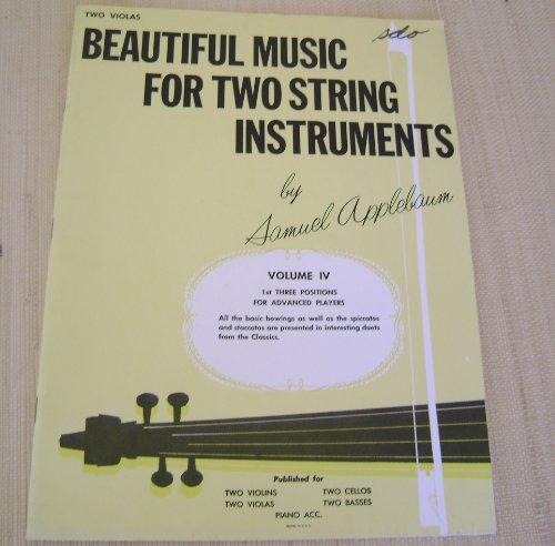 Beautiful Music for Two String Instruments, Vol. 4: Piano Accompaniment