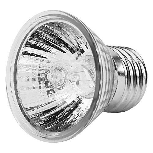 Luz de acuario, 25W / 50W 220-240V Calentador de termostato de acuario, lámpara de lámpara Reptilian Calefacción de Sun...