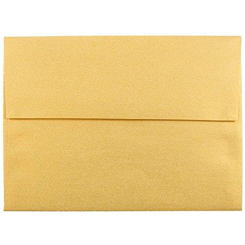 JAM PAPER A6 Metallic Invitation Envelopes - 4 3/4 x 6 1/2 - Gold Stardream - - A6 Stardream Metallic Envelopes