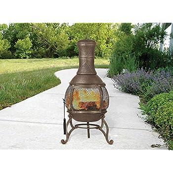 Amazon Com Cast Iron Chiminea Fireplace Compact Patio