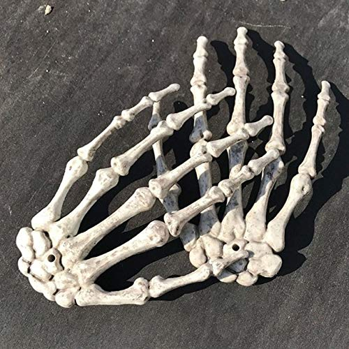 Animated Banjo Skeleton (Halloween Skeleton 1 Pair Plastic Skeleton Hands Haunted House Halloween Decoration Halloween Props Party)