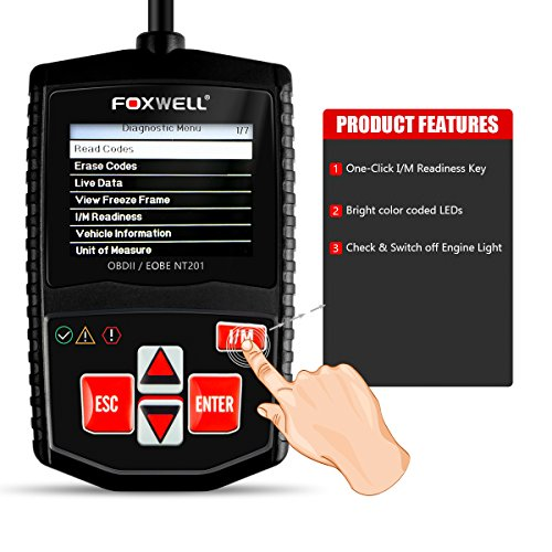 OBD2 Scanner Foxwell NT201 Check & Switch off Engine Light ...