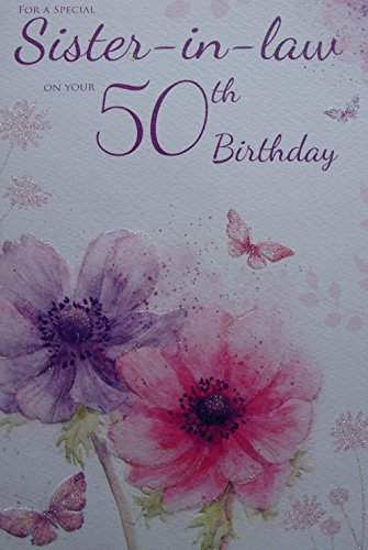 Sister In Law 50th Birthday Card By Icg Cards