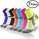 Compression Socks (7 Pairs),15-20 mmhg is BEST Athletic & Medical for Men & Women, Running, Flight, Travel, Nurses - Boost Performance, Blood Circulation & Recovery (Small/Medium, 7 Pairs)