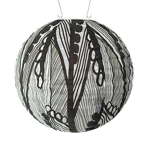 - Allsop Home & Garden 31792 Soji Black & White Seed Leaf Round Solar Lantern